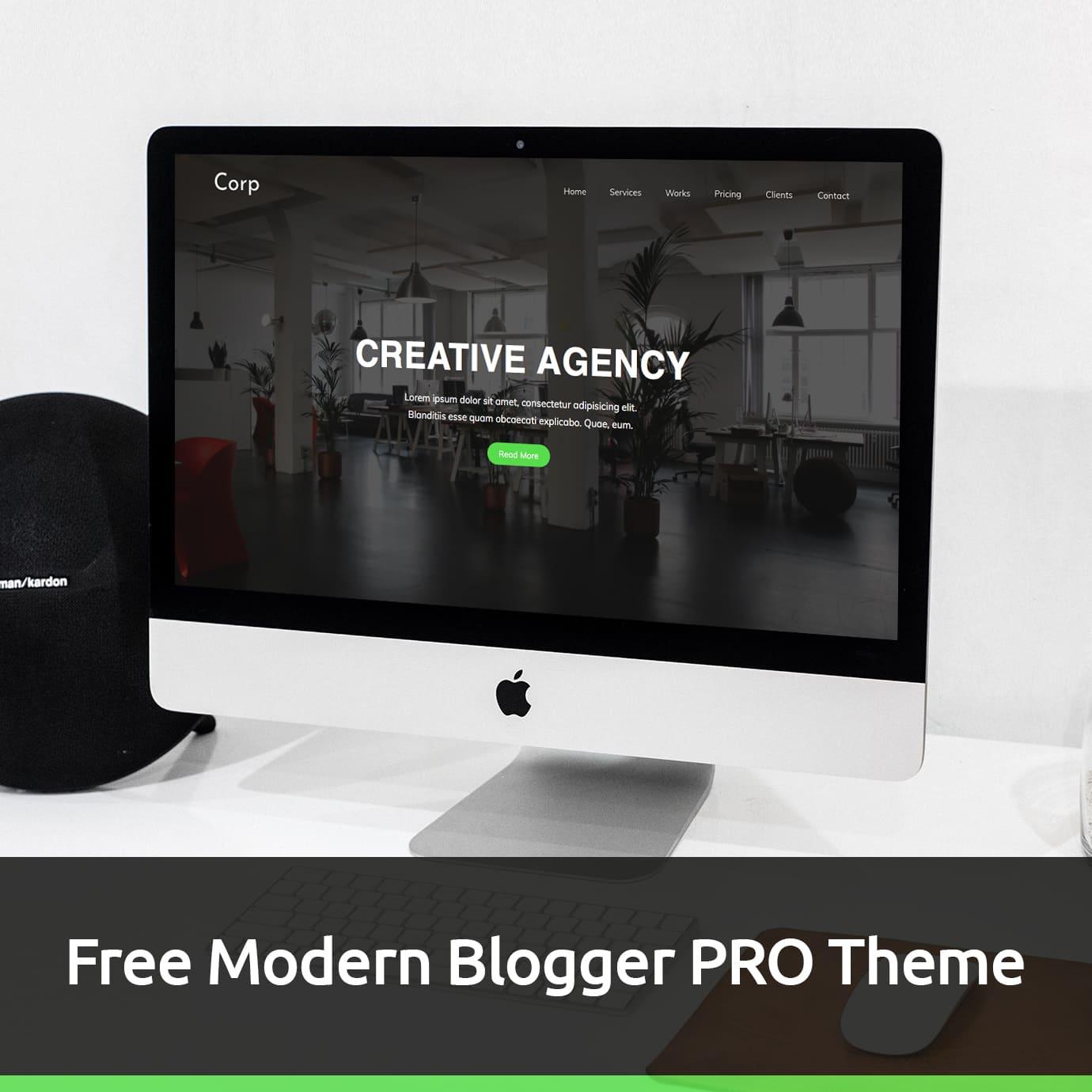 Free Modern Blogger PRO Theme.