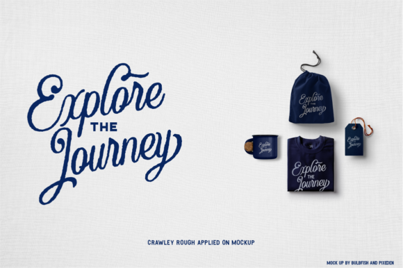 Crawley Textured Font Duo + Illustration - The Crawley Duo by Angin Studio 8 580x386