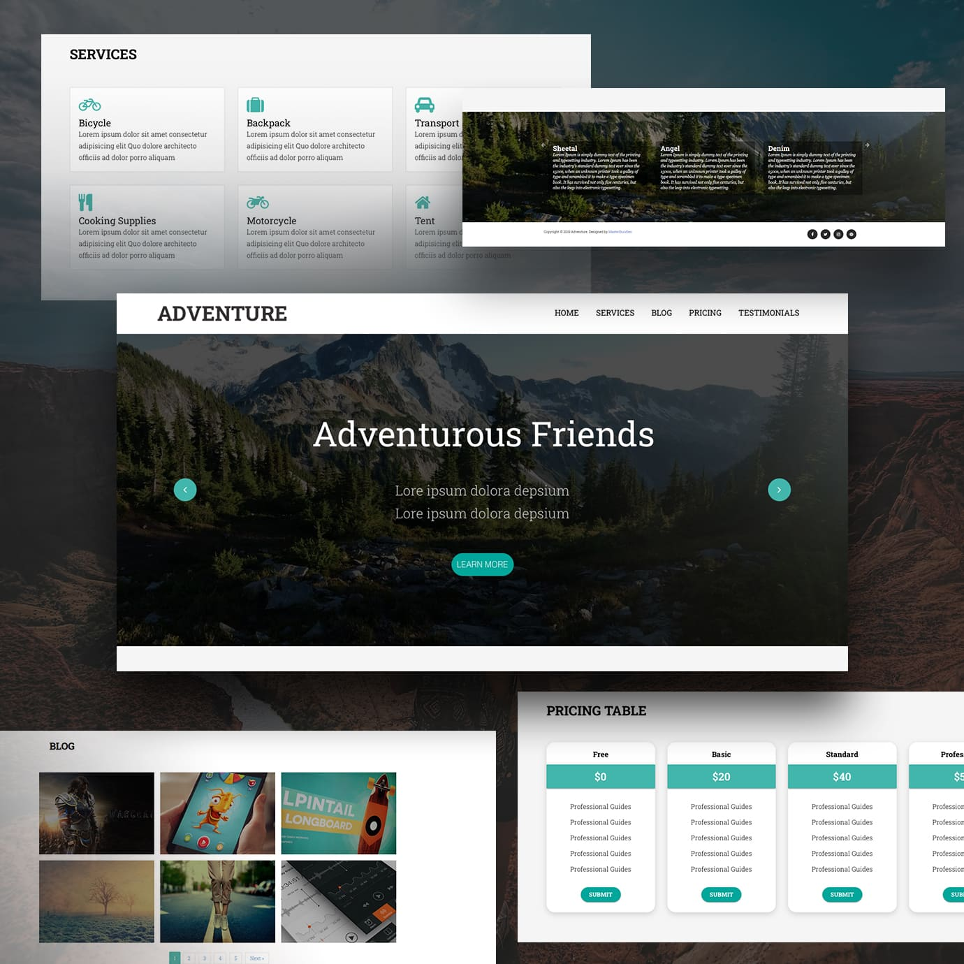 Free Template Page Examples.
