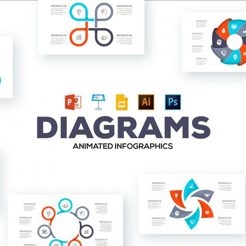 Venn Diagram Infographic: Diagrams Animated Infographics - Venn Diagram Infographic 490x490