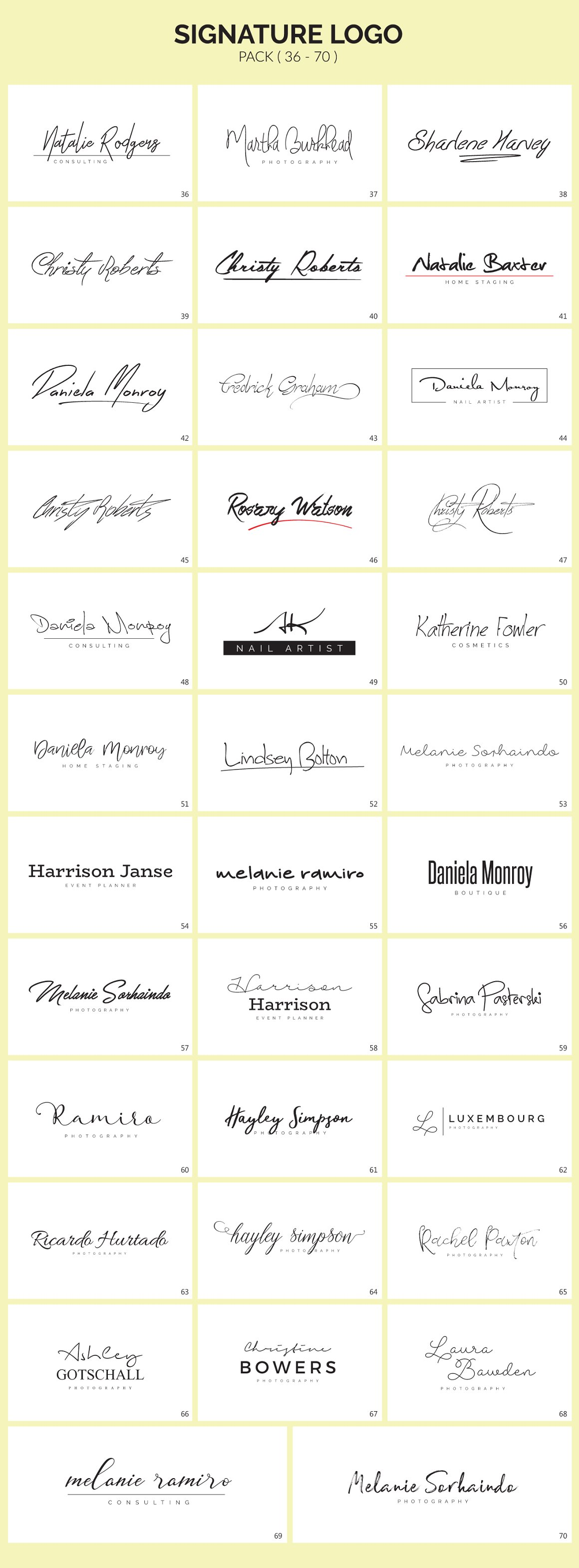 70 Signature Logo Bundle - signature logos 2