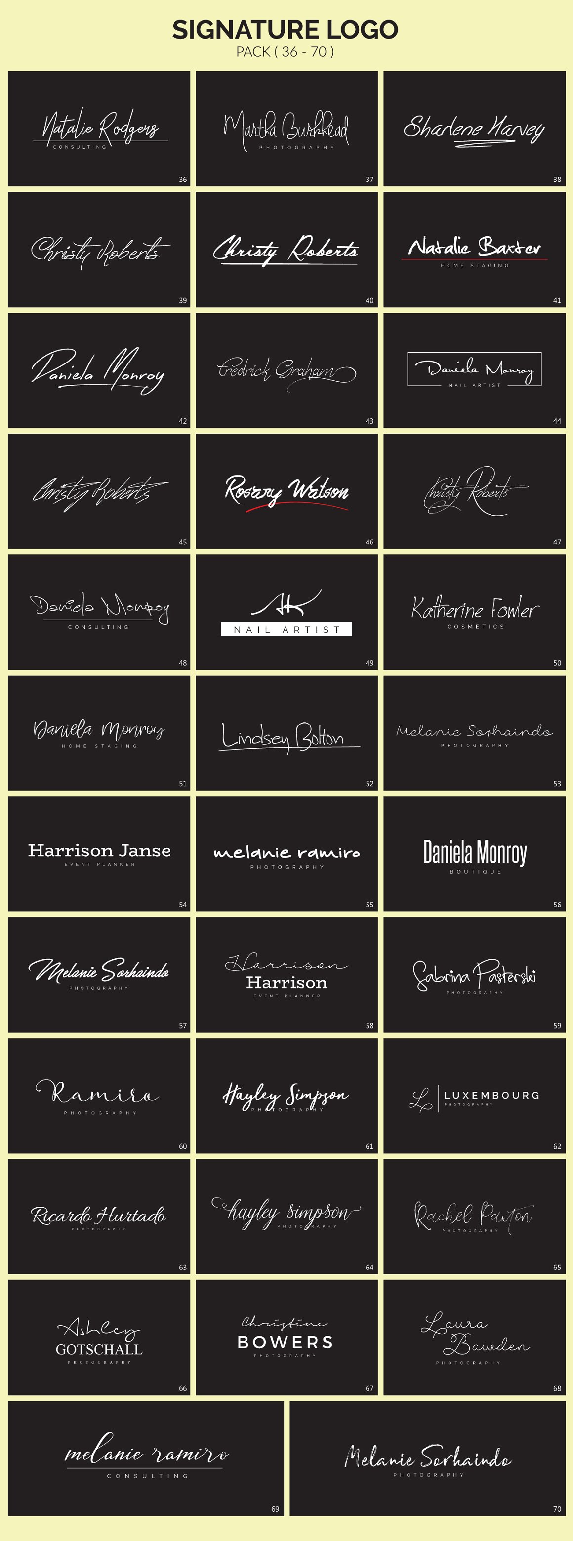 70 Signature Logo Bundle - signature logos 4