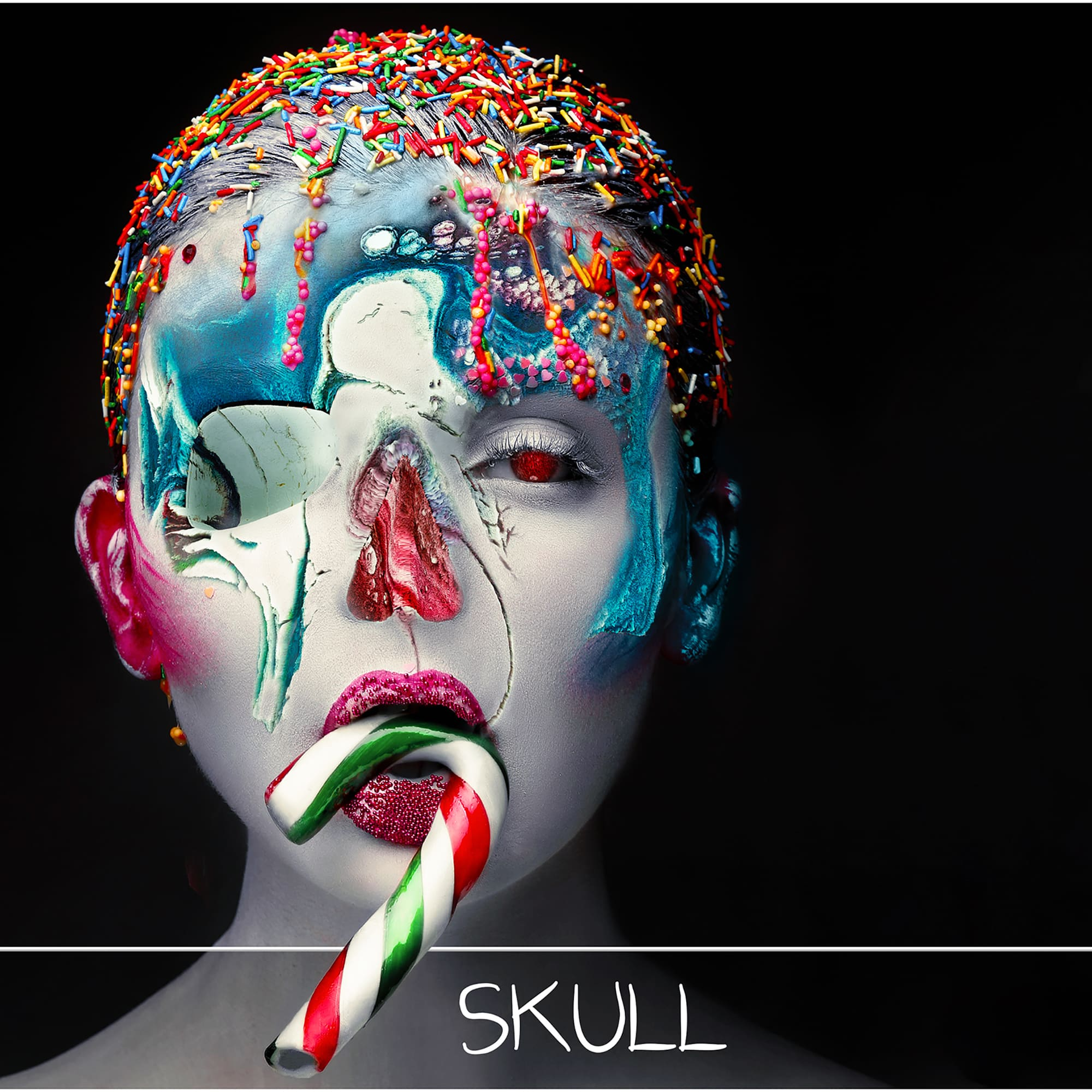 Multiple Exposure Photoshop Effect - skull overlay 2