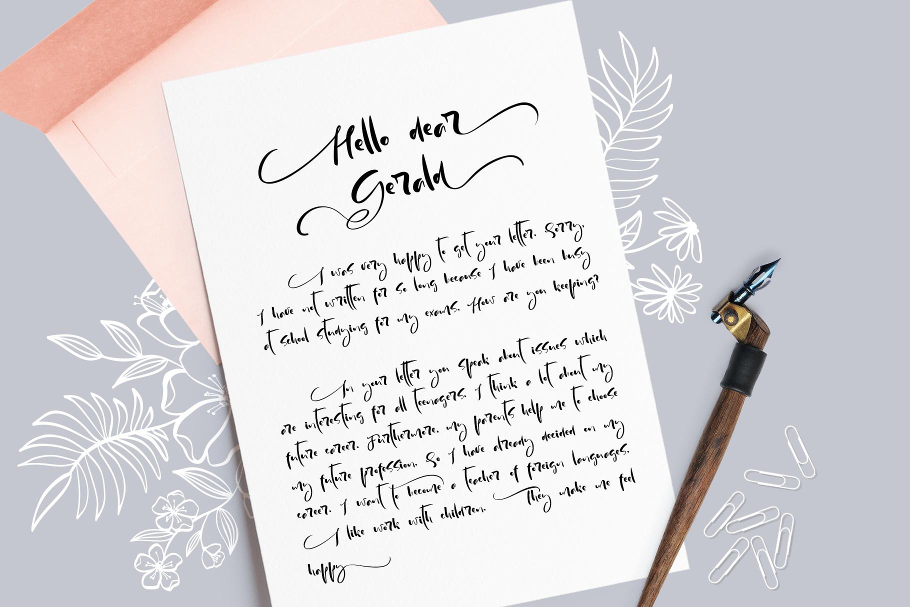 modern handwritten calligraphy font