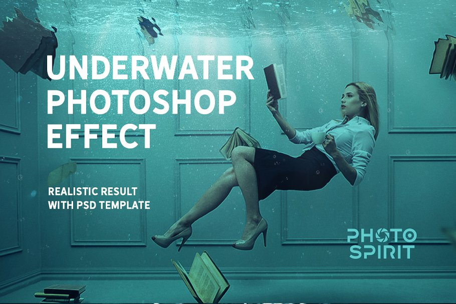 Underwater Effect Photoshop Templates & Textures - underwater photoshop effect 0