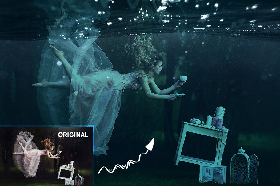 Underwater Effect Photoshop Templates & Textures - underwater photoshop effect 2