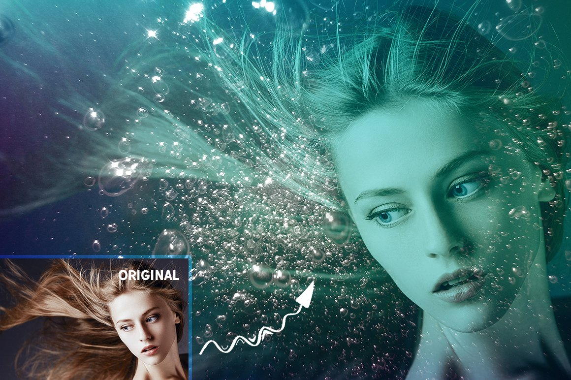 Underwater Effect Photoshop Templates & Textures - underwater photoshop effect 3