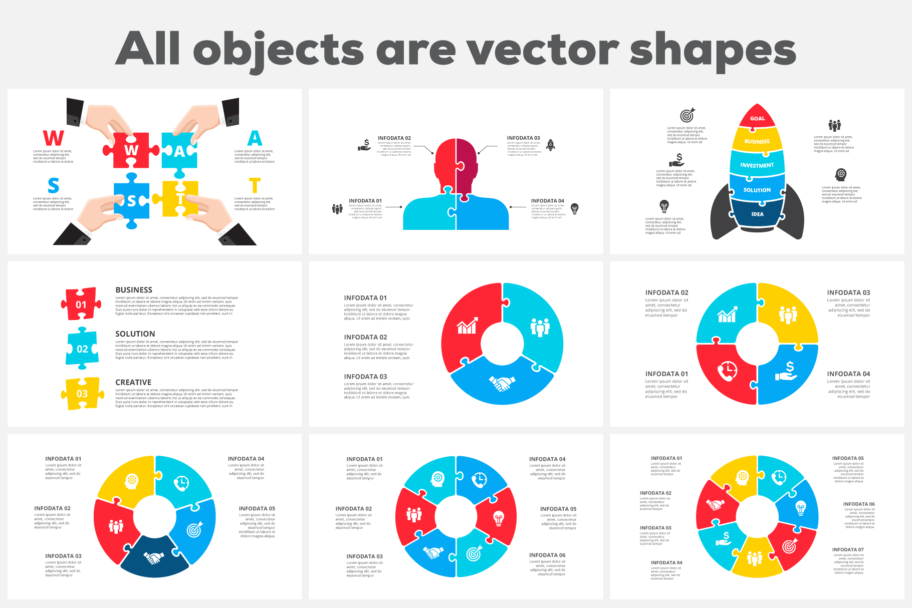 28 Puzzle Animated Infographics: Powerpoint Puzzle Template XML, AI, PSD, EPS, KEY, PDF - 03