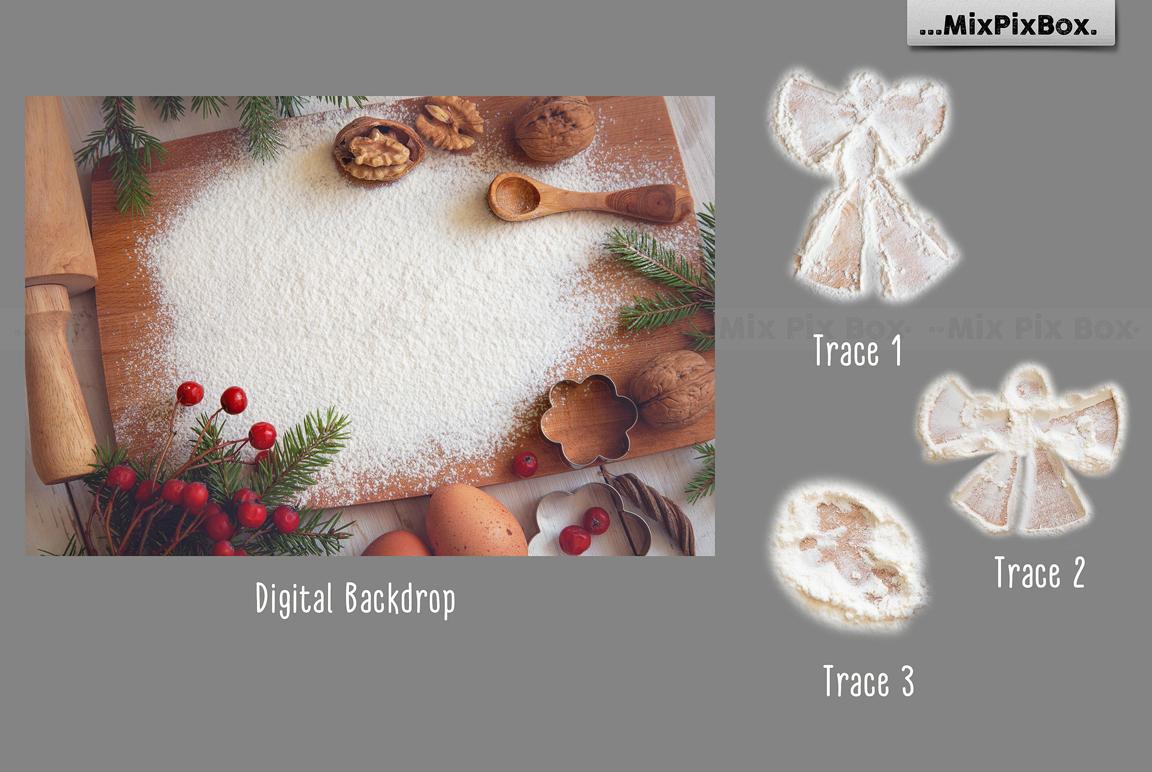 Christmas Cookie Angel Digital Backdrop