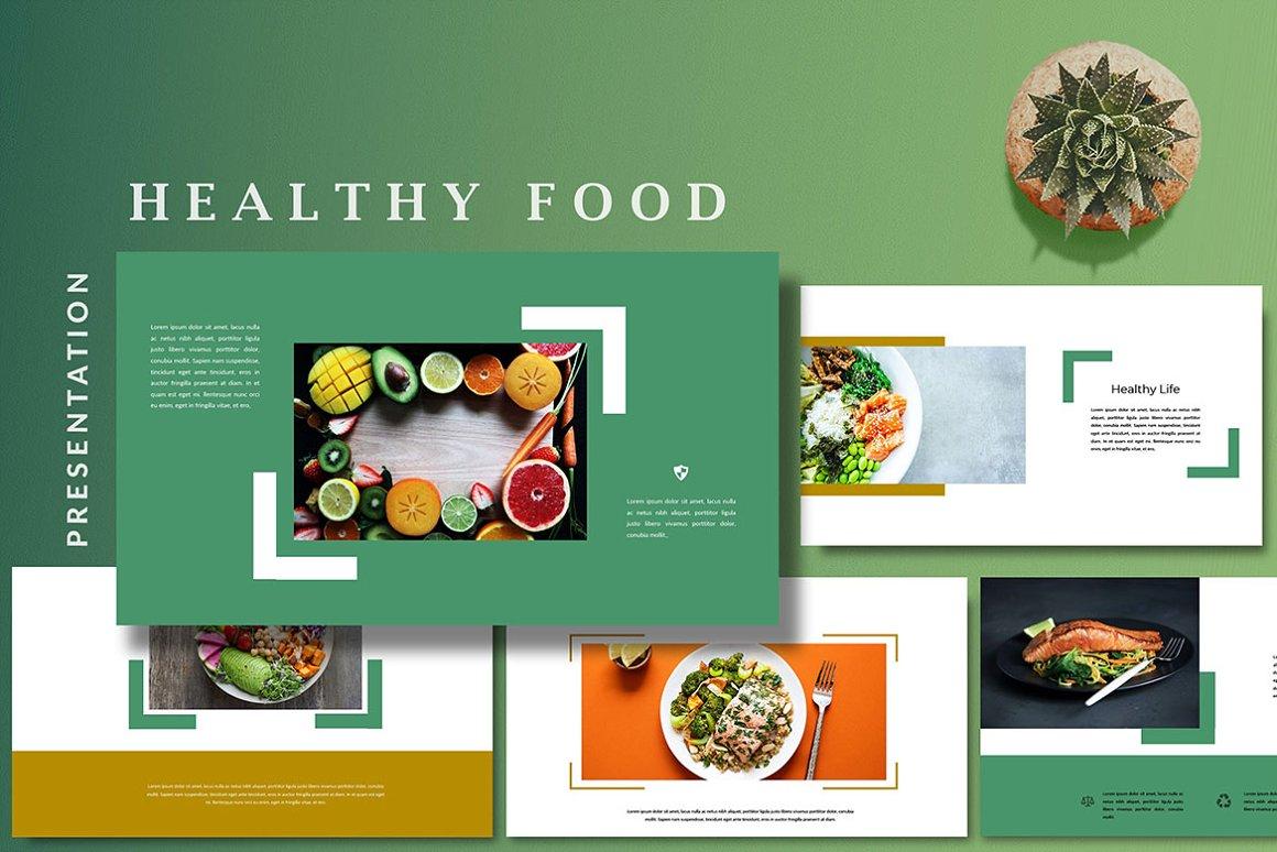 Keynote Cafe Healthy Food - Creative Keynote Template - 11