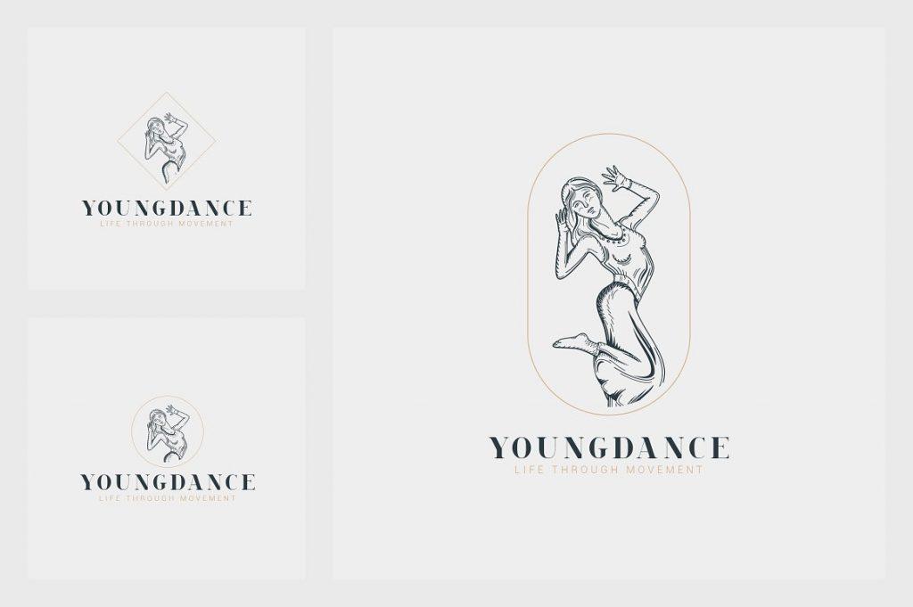 32 Art Deco Logo Templates - 12 1 1