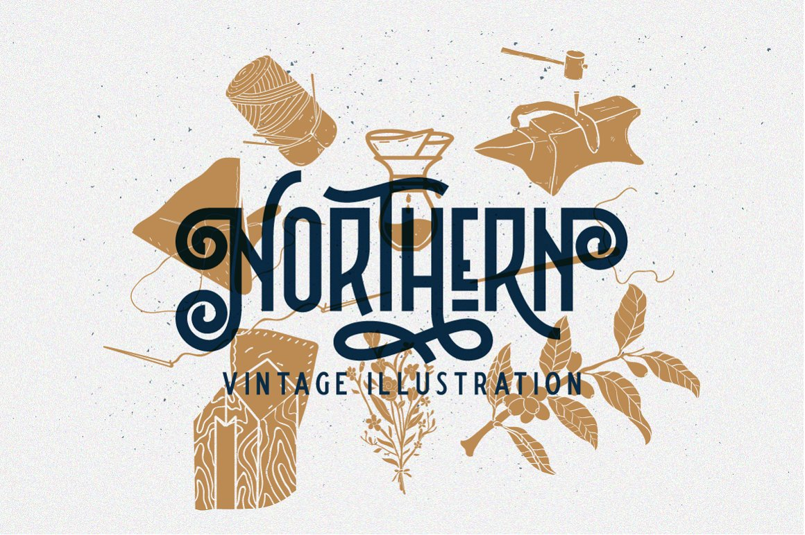 Northern Retro Future Font Bundle: 5 fonts with extras - 16 .png
