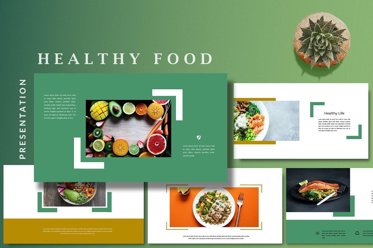 Keynote Cafe Healthy Food - Creative Keynote Template - 3