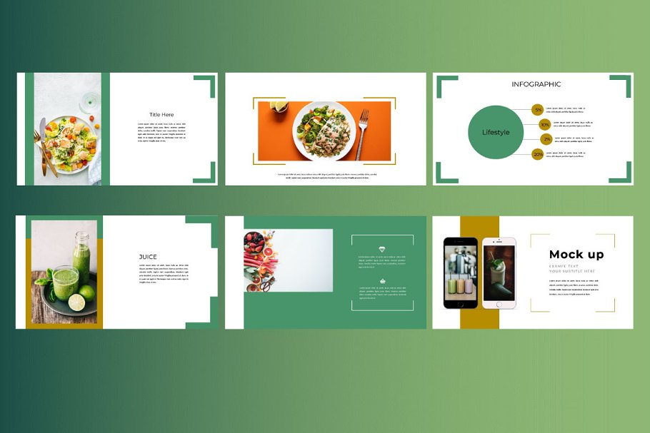 Keynote Cafe Healthy Food - Creative Keynote Template - 4