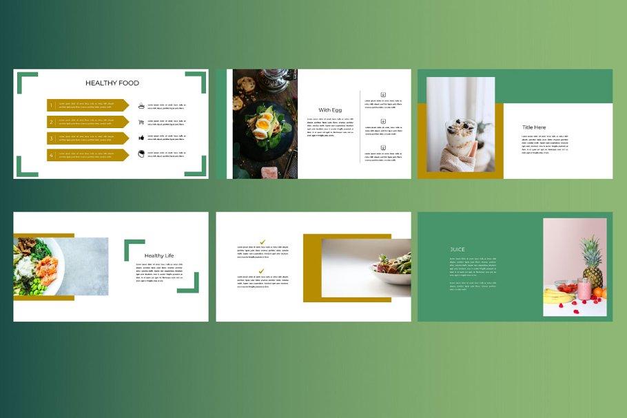 Keynote Cafe Healthy Food - Creative Keynote Template - 5