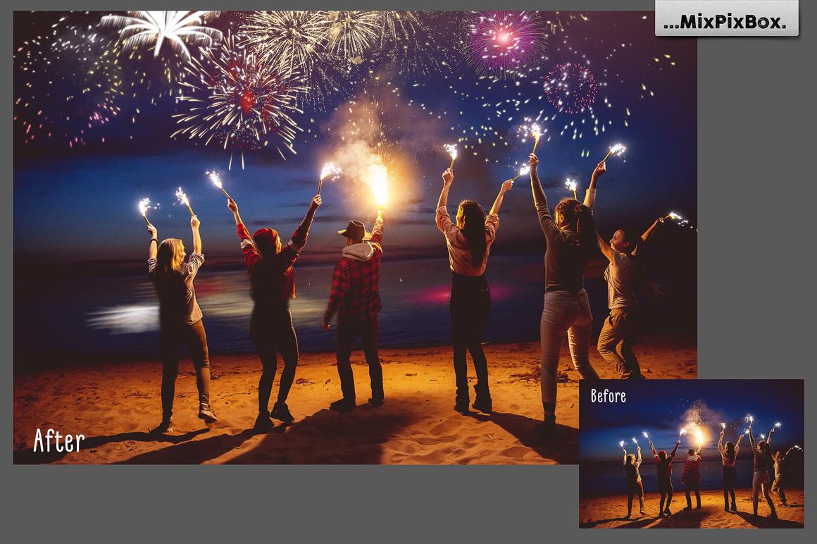 33 Holiday Fireworks Photo Overlays - 5 1