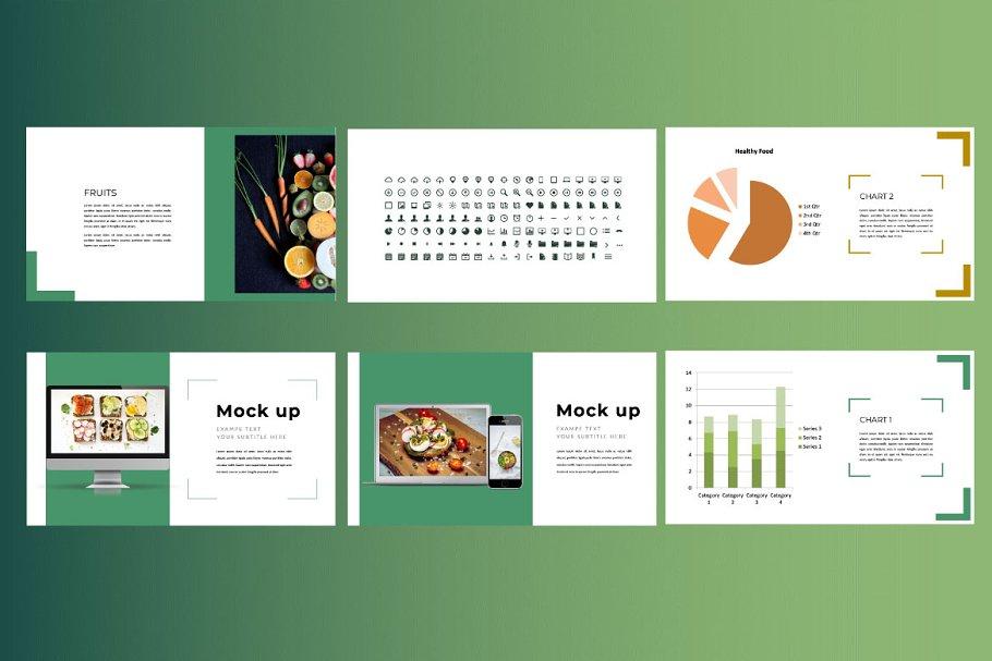 Keynote Cafe Healthy Food - Creative Keynote Template - 6