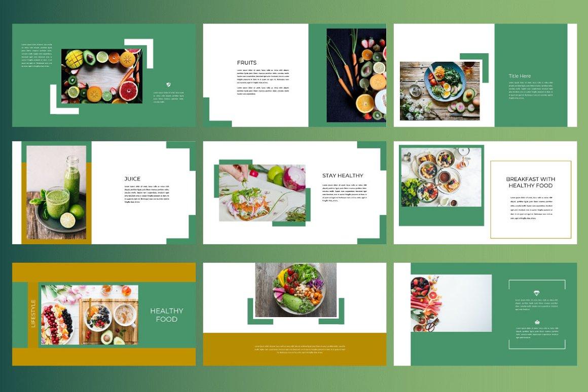 Keynote Cafe Healthy Food - Creative Keynote Template - 7 2