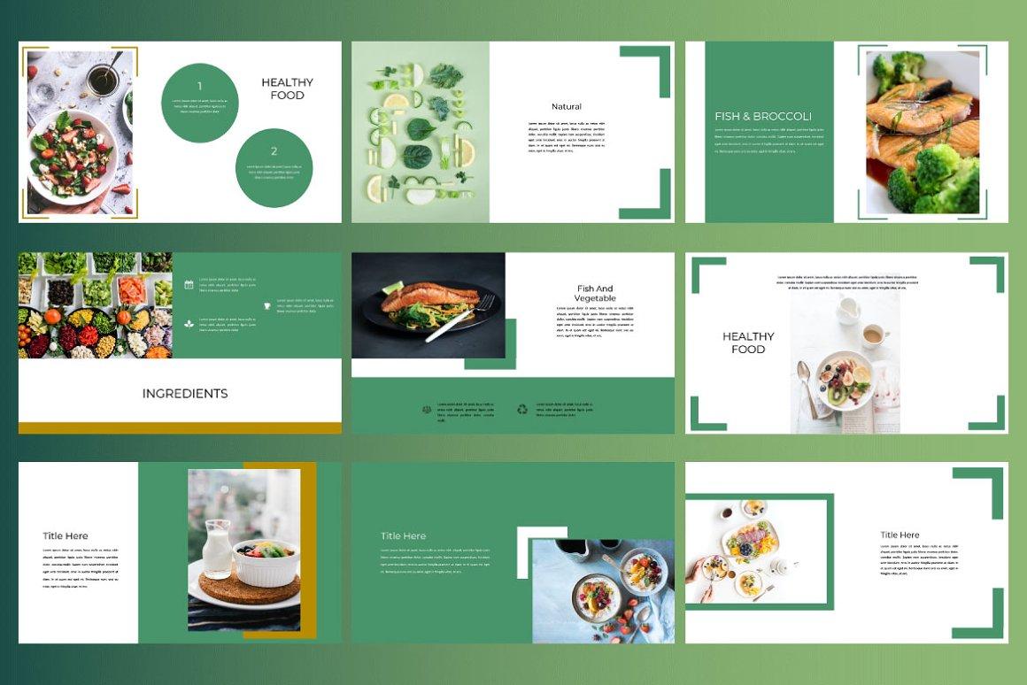 Keynote Cafe Healthy Food - Creative Keynote Template - 8 2