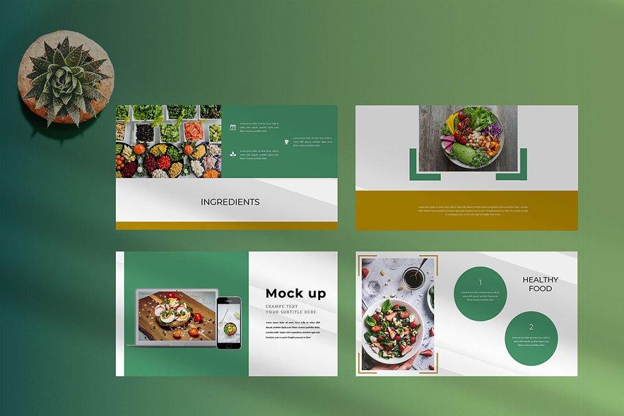 Keynote Cafe Healthy Food - Creative Keynote Template - 9 2