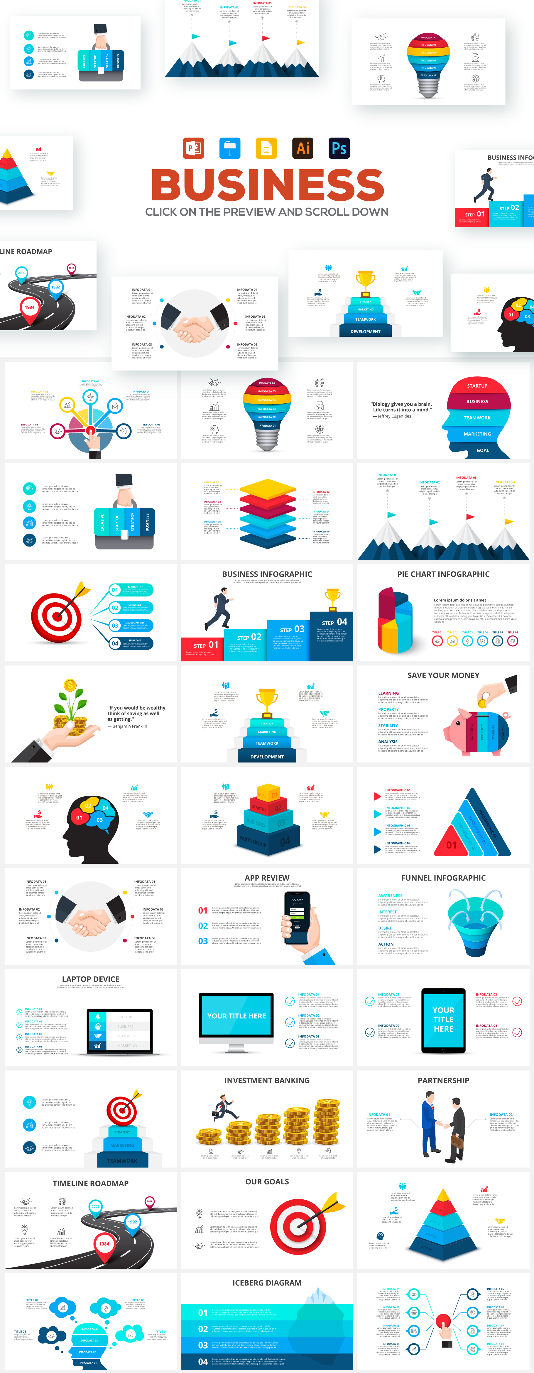2600 Massive Animated Powerpoint Bundle - Business all