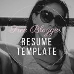 Free Blogger Resume Template