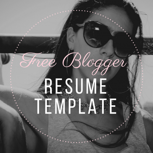 Free Blogger Resume Template