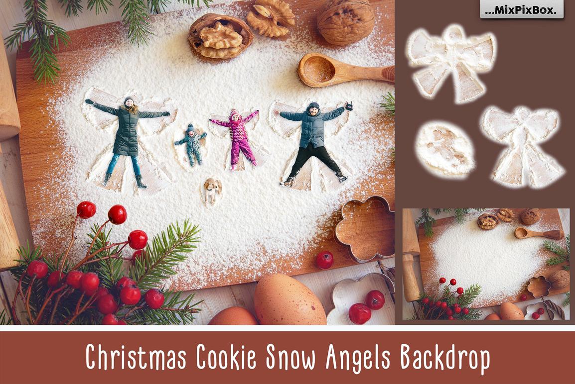 Christmas Cookie Angel Digital Backdrop - christmas cookie first image