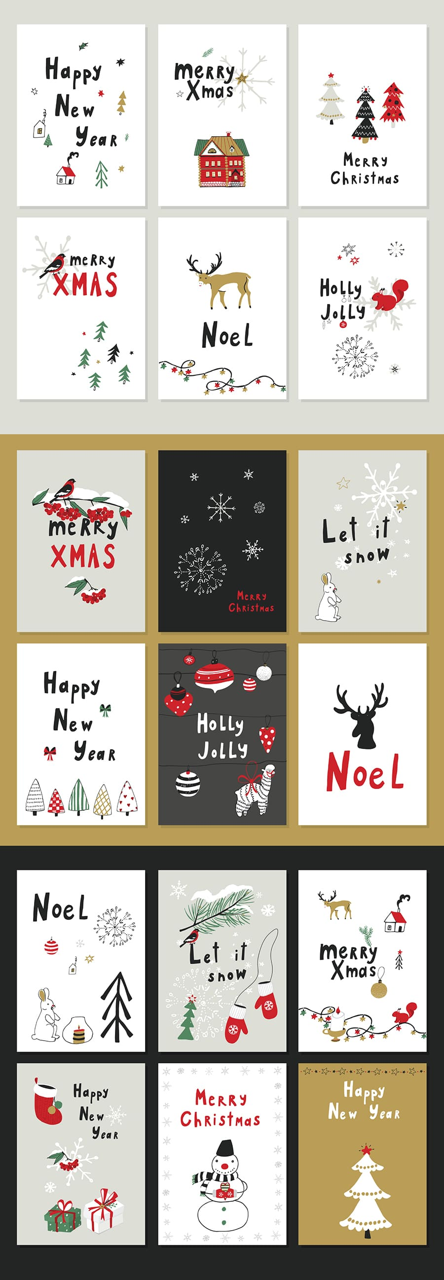Christmas Patterns & Postcards: Merry X-Mas cover image.