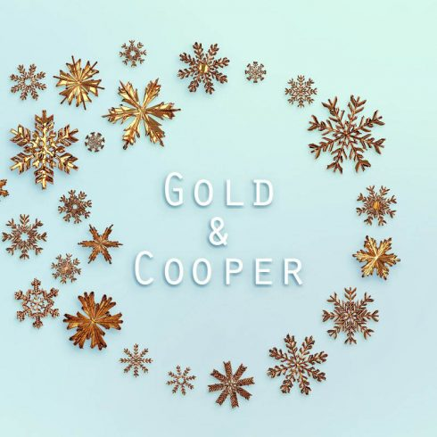 Gold Snowflakes PNG