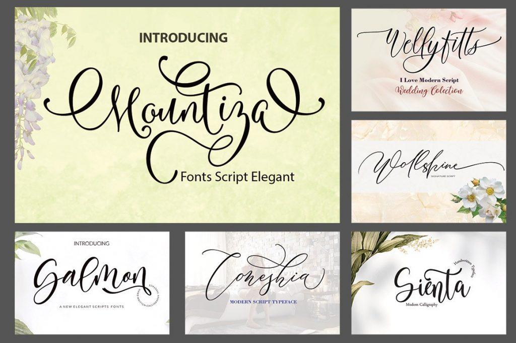 Funky Font Bundle: 18 Amazing Modern Calligraphy Fonts