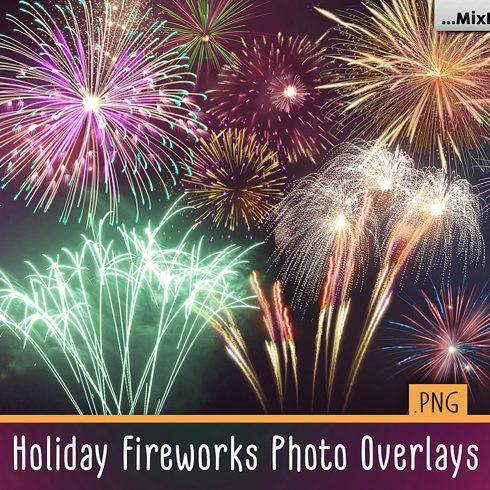 33 Holiday Fireworks Photo Overlays