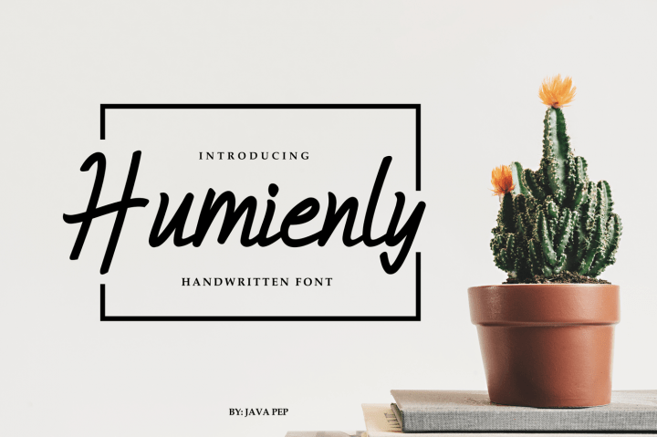 Masculine Font Humienly - humienly script font