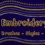 Embroidery photoshop effect