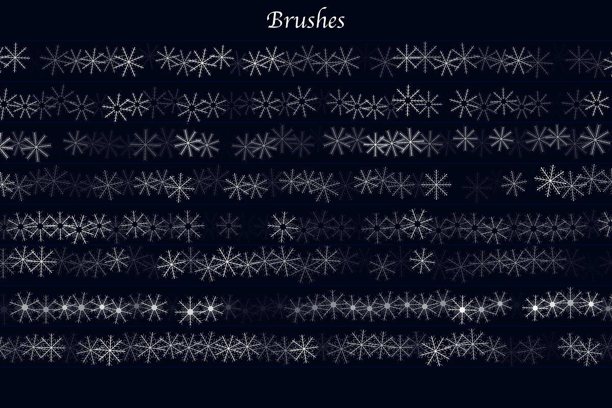 snow brushes photoshop