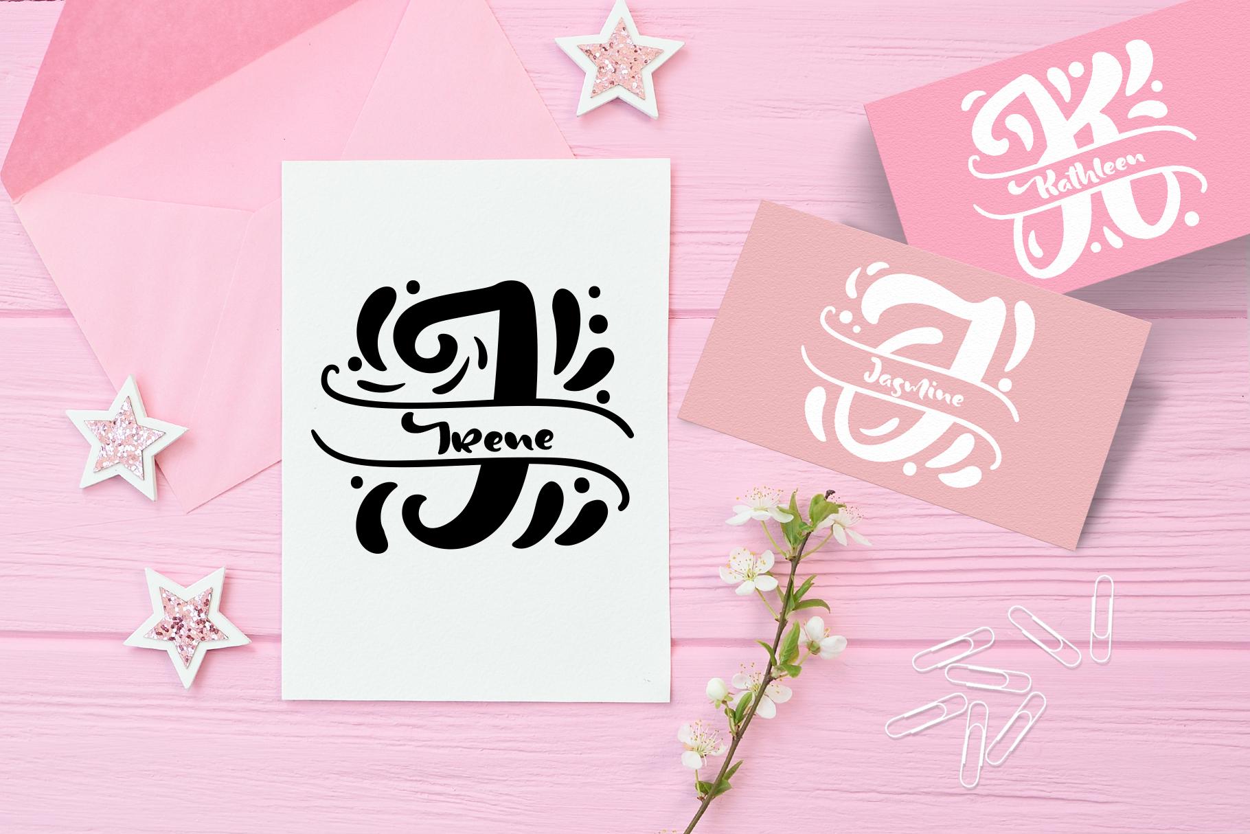 Split Letter Monogram Font - title03