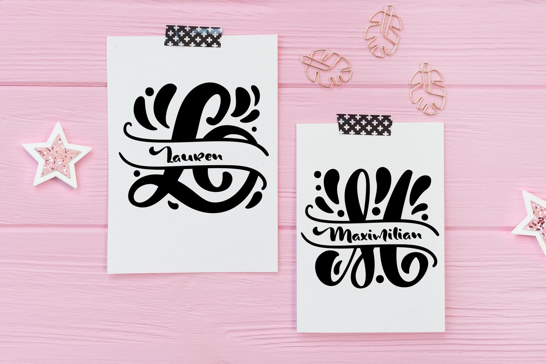 Split Letter Monogram Font - title04
