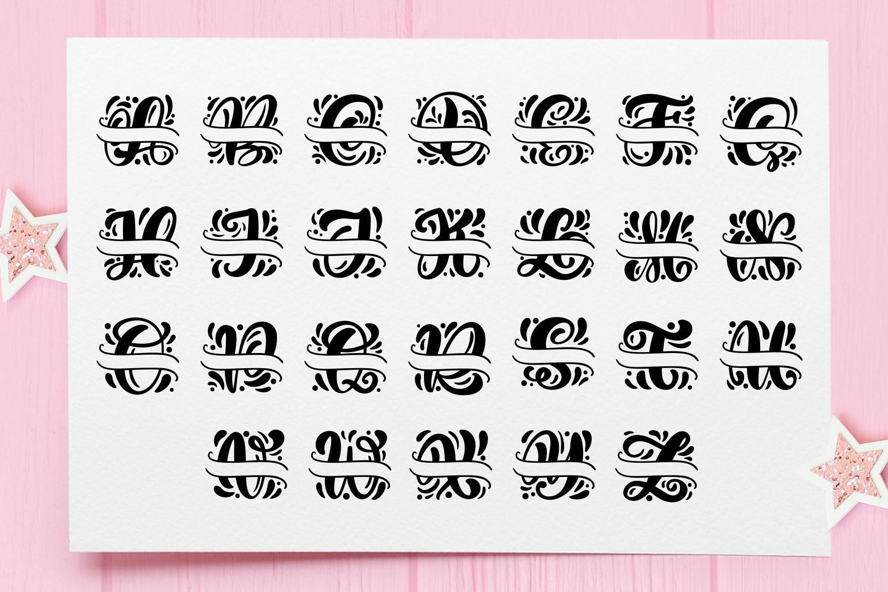 Split Letter Monogram Font - title09