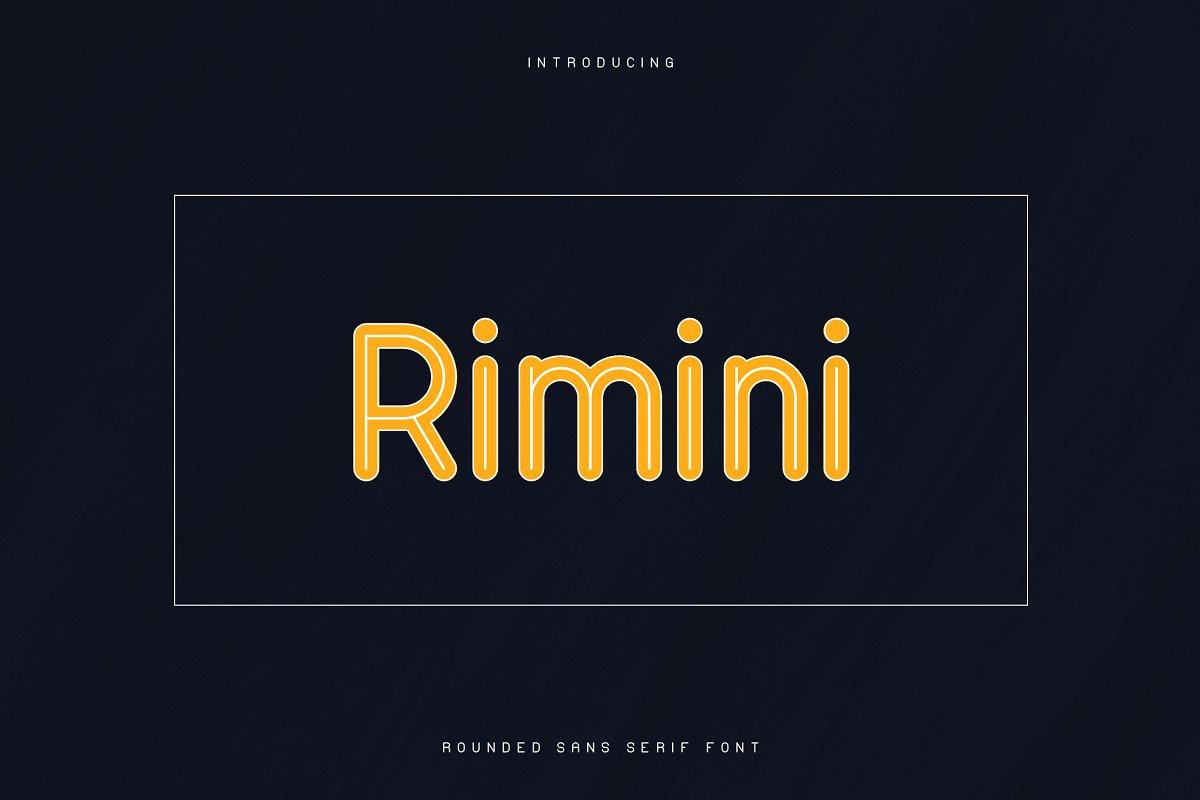 Rimini Rounded Sans Serif font -50% - 1 1 2