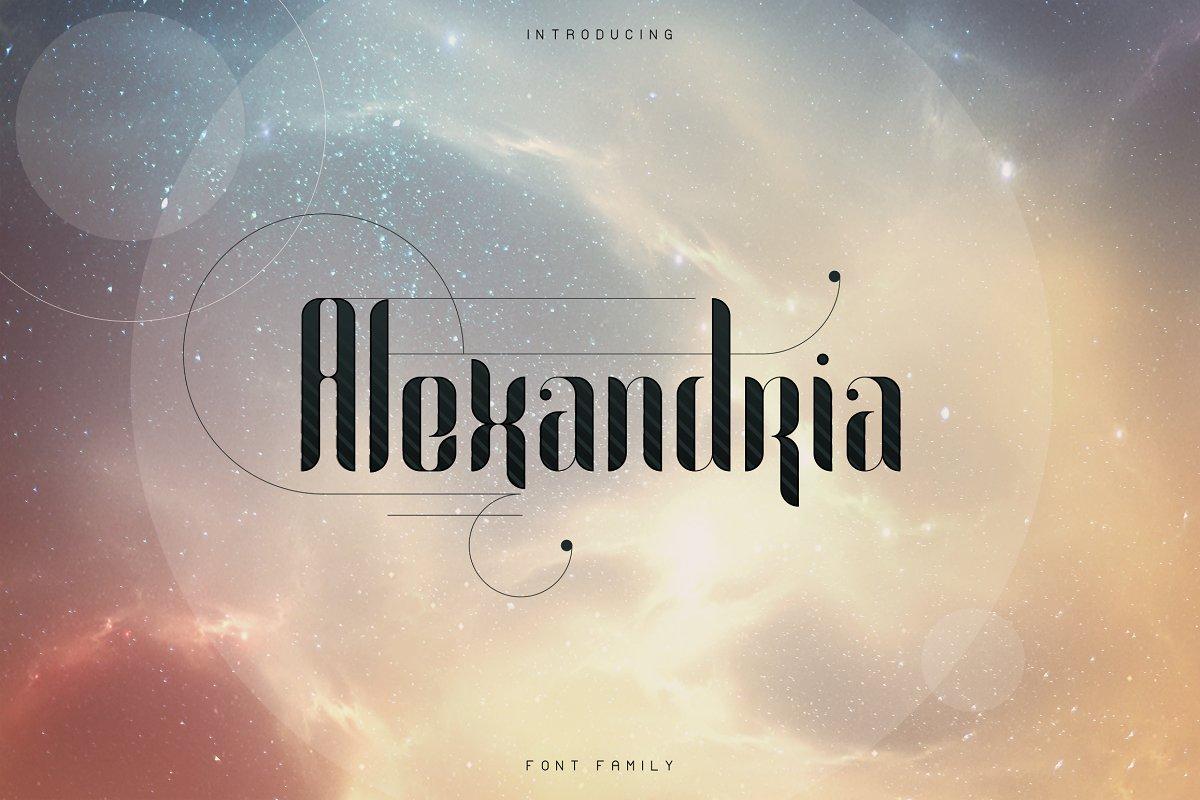 Alexandria Alien Font Family + Bonus -70% - 1 1 3