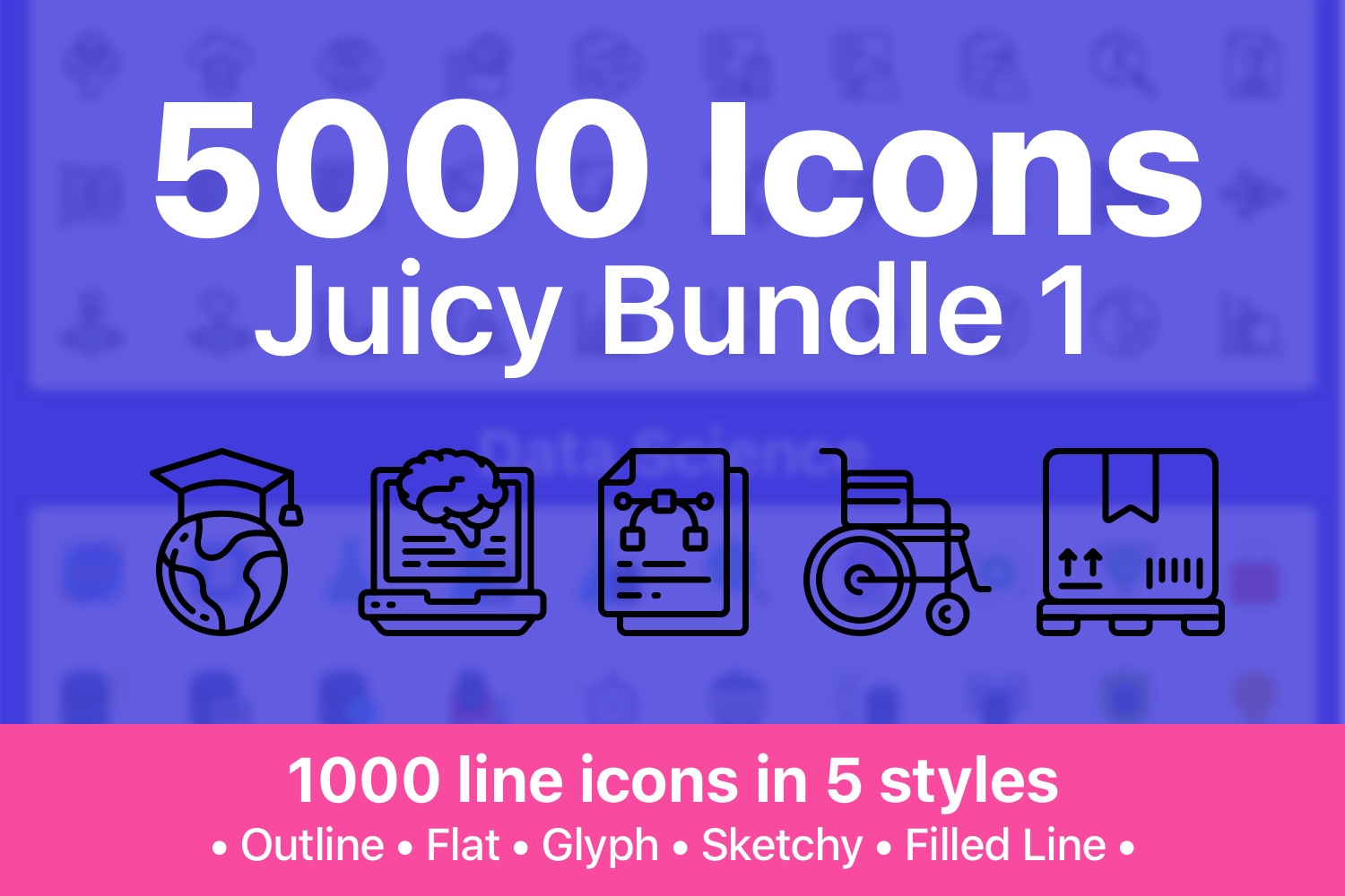 Juicy Icon Bundle - 5000 Cool Icons - 1272559 full