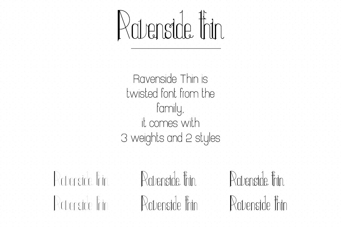 Ravenside Splatoon Font Family - 13 Fonts with 50% OFF - 14