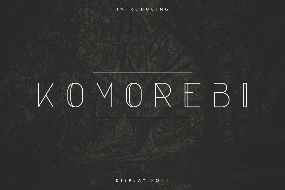 Komorebi Neutra Display Font -30% - 1a