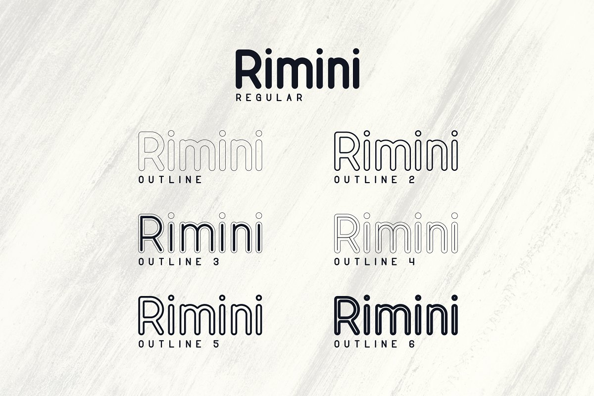 Rimini Rounded Sans Serif font -50% - 2 1 2