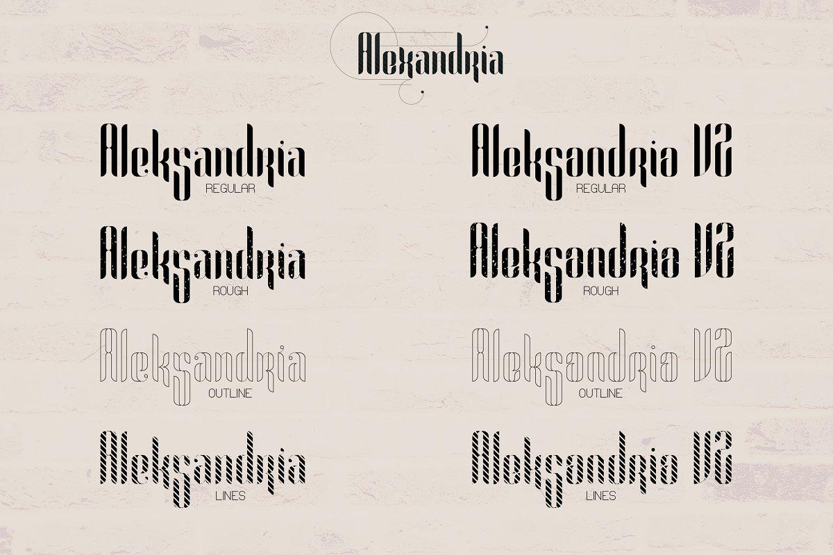 Alexandria Alien Font Family + Bonus -70% - 2 1 3