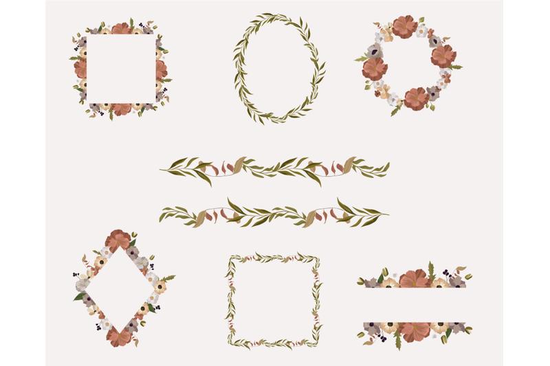 Floral Frame: 7 Botanical frames, floral geometric clip - 800 3848105 1kn8dts9ulyh21ajg044nkq3g1t6r99nir5zsy4r floral polygonal frame clipart botanical frame floral geometric clip