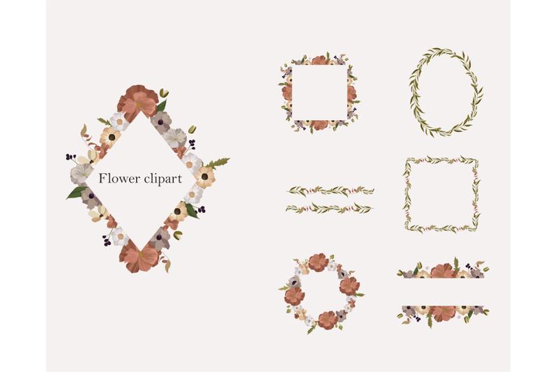 Floral Frame: 7 Botanical frames, floral geometric clip - 800 3848105 tfj6ty73vkerhv249kkov33vaqx0aiujb3kvubxu floral polygonal frame clipart botanical frame floral geometric clip