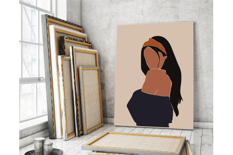 Abstract Woman Portrait Clipart Bundle - 800 3850783 6wde40ydvii517rbjubc9lwbhpqdcyjwqdmiuyf7 abstract woman portraits clipart modern forms printed terracotta illus