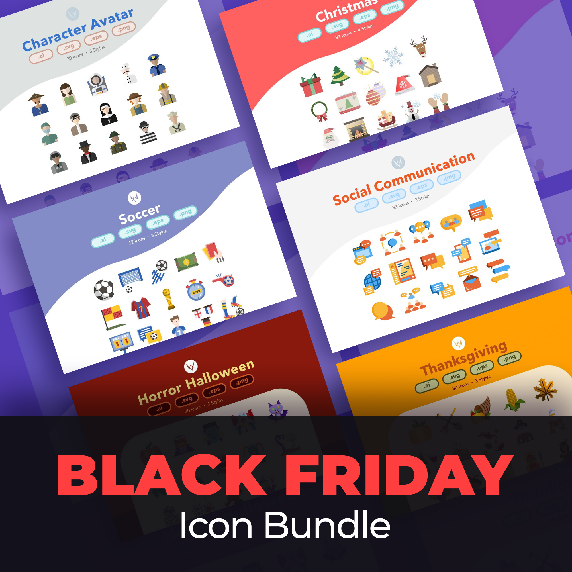 60+ Best Black Friday and Cyber Monday Deals 2020. For Designers, Artists and Developers - Black Friday Icon Bundle 1