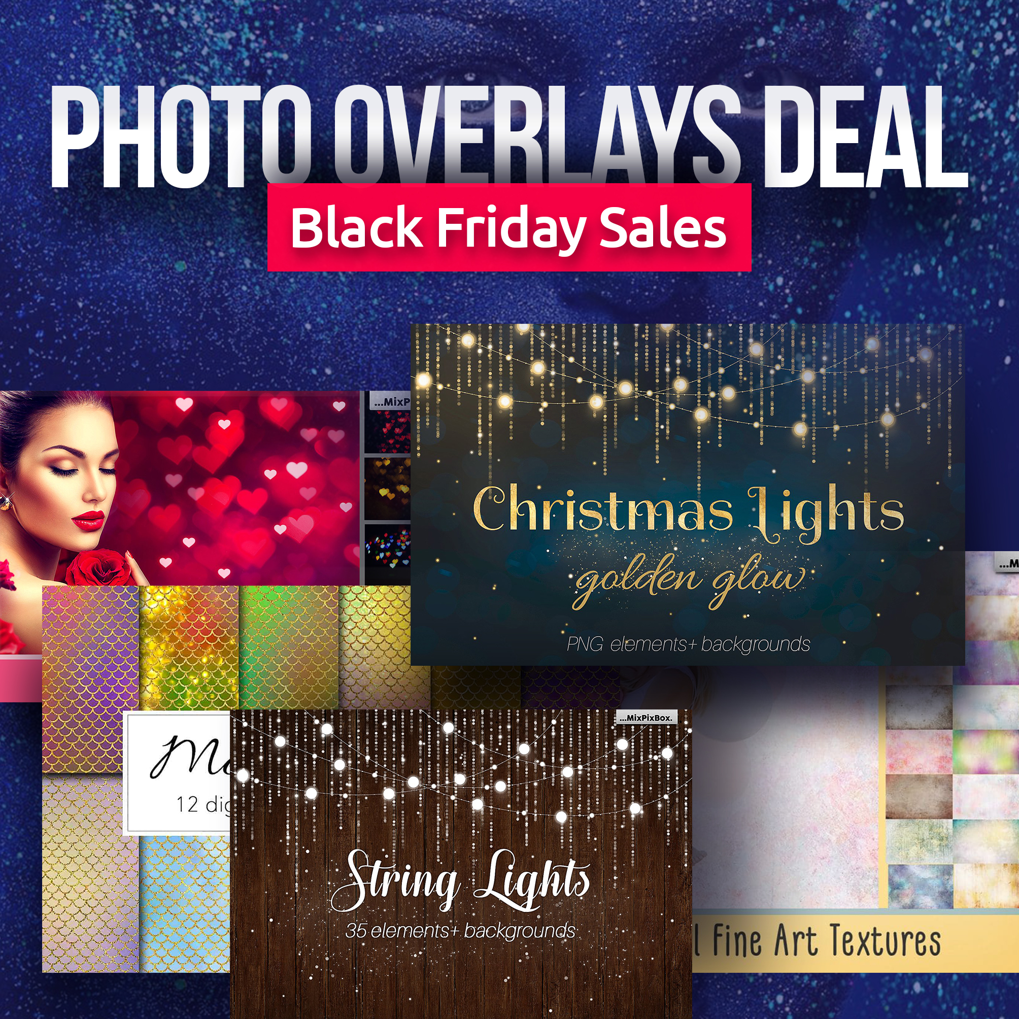 60+ Best Black Friday and Cyber Monday Deals 2020. For Designers, Artists and Developers - Black Friday Mega Photo Overlays Deal 1